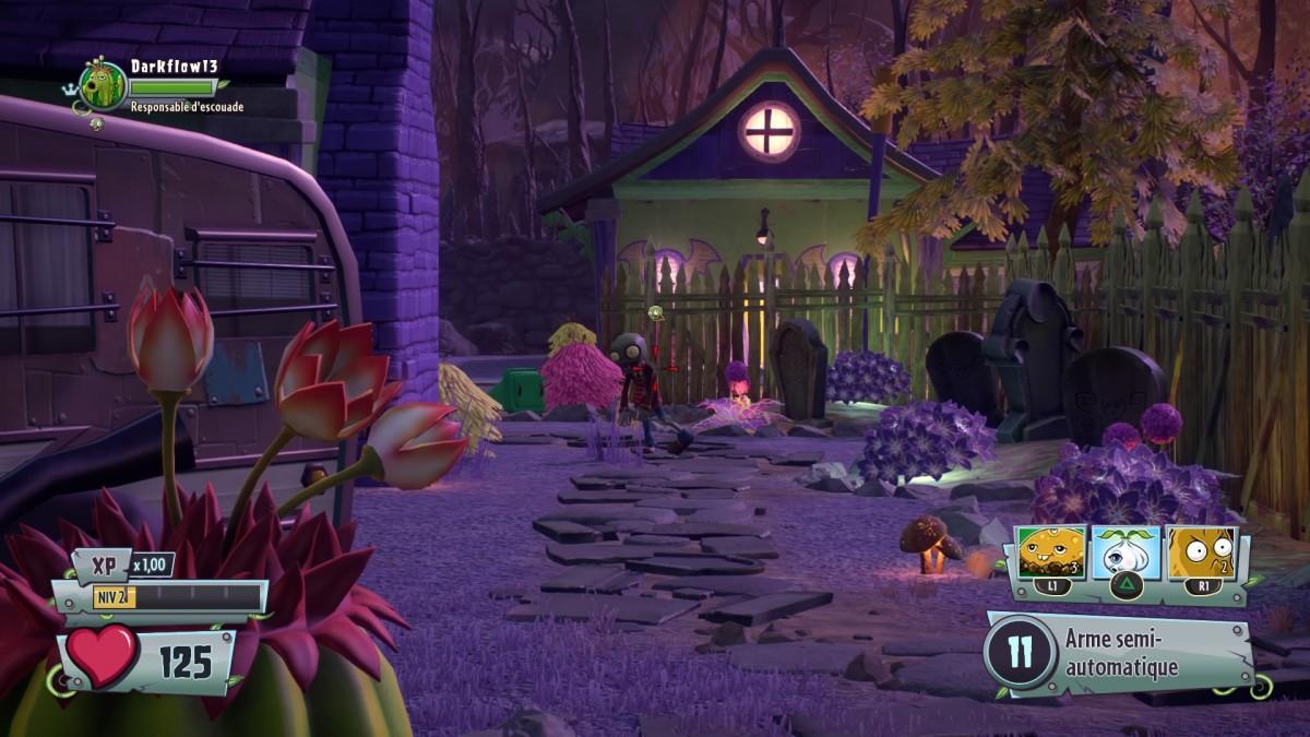 Chaque personnage dispose de trois capacités en plus du tir, comme la pose de mines ou l'utilisation d'un drone.