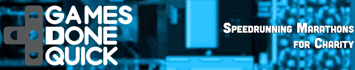 La bannière du site internet GamesDoneQuick.com
