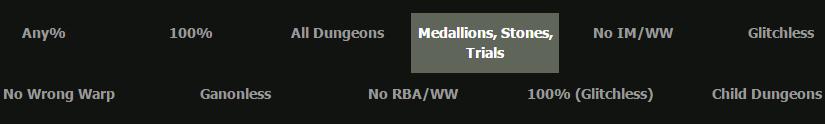 Les 11 catégories runnées d'Ocarina Of Time