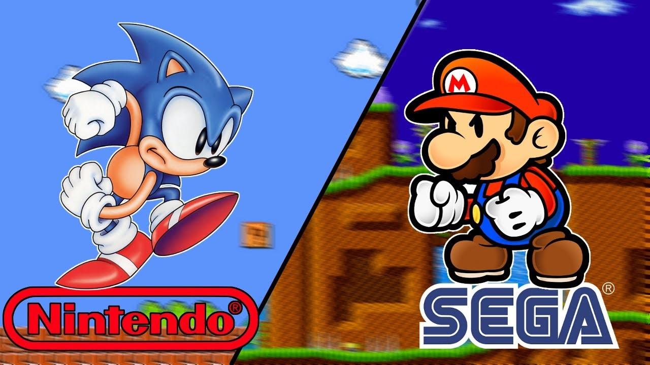 Gauche : Sonic The Hedgehog, 26 ans – Droite : Mario le plombier, 31 ans