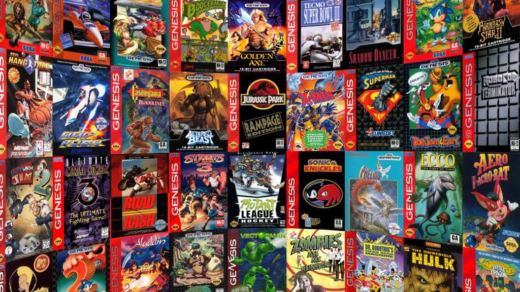Un échantillon des jeux sortis sur Mega Drive