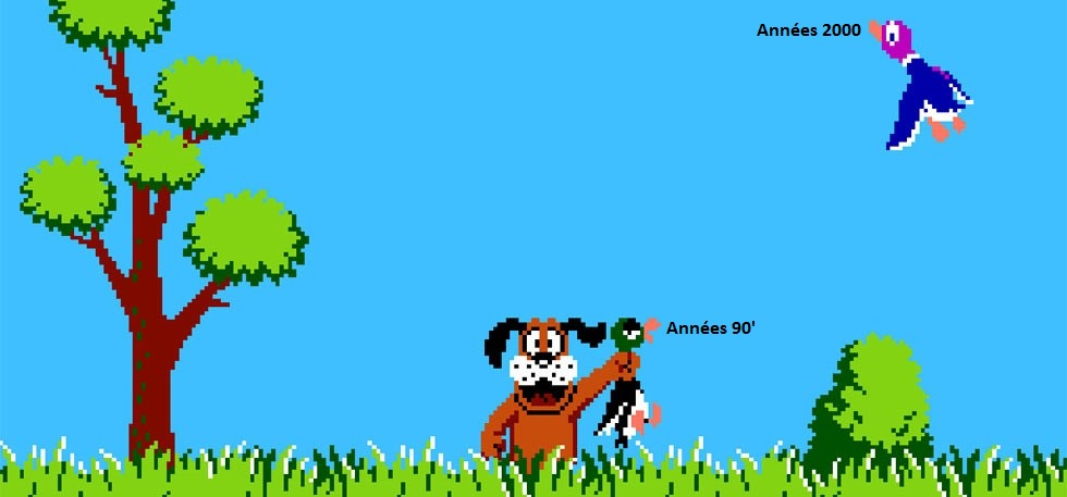 Duck Hunt (1984) – Nintendo ft. mes talents de graphiste